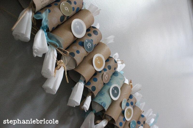 DIY Noel récup –3 calendriers de l'Avent en rouleaux de papier carton