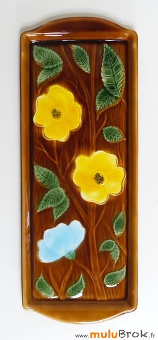 SARREGUEMINES-Plat-cake-fleurs-3-muluBrok-vintage