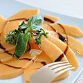 Carpaccio de melon basilic
