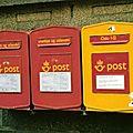 La scandinavie et ses boîtes à lettres