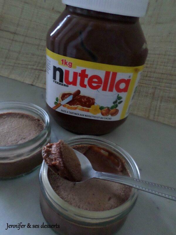 petits pots de cr me au nutella jennifer ses desserts. Black Bedroom Furniture Sets. Home Design Ideas