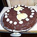 Génoise a la ganache chocolat