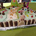 Gâteau de pâques à la vanille et sa crème vanillée