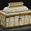 Embriachi workshop, italian, venice, 15th century, betrothal casket