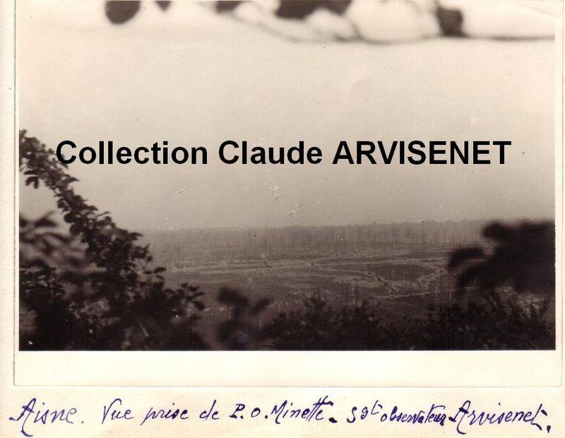 AISNE - Vue du poste observation