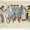 Soldats et officiers blessés arrivent à biarritz.