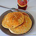 Pancakes flocons d'avoine et farine de seigle