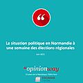 Dernier sondage avant les élections régionales: confirmation du vote utile normand pour Hervé <b>MORIN</b>.