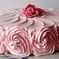 Gâteau au mascarpone à l'eau de rose