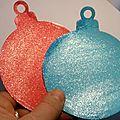Boules de Noël scintillantes