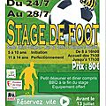 Stage de football - été 2017 - rfc villers