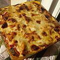 Lasagnes aux ravioles et ratatouille
