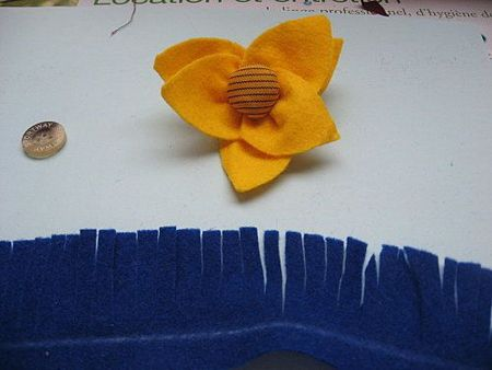 Tuto fleur en feutrine ou laine bouillie