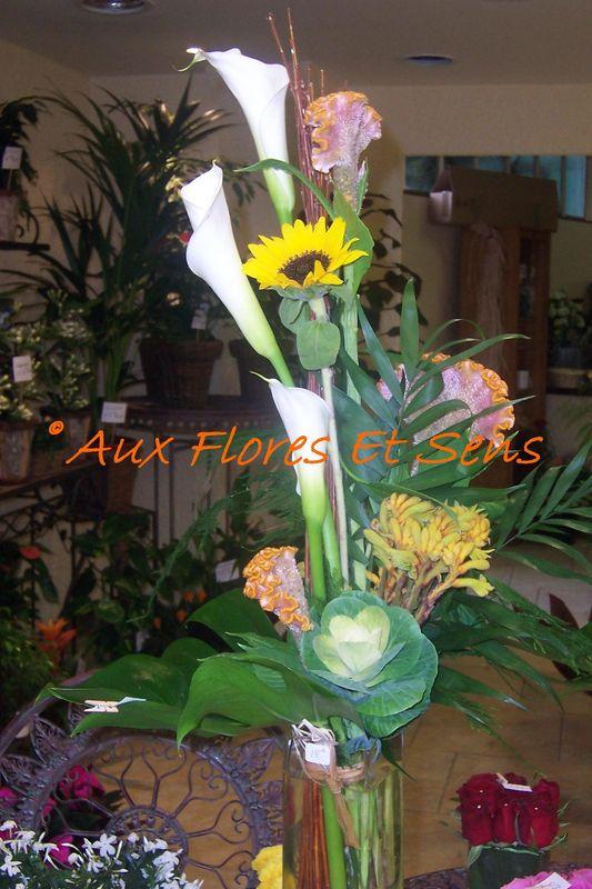 Bouquet Linéaire Arums