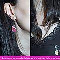 01 boucles d'oreilles et broche