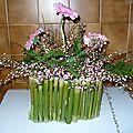 fleurs roses et bambous1