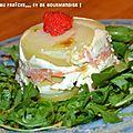 Gâteaux de pommes de terre au chèvre frais et saumon fumé