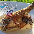Le traditionnel poulet de bresse à la crème, façon