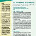 Evolutions n°18: La <b>prévention</b> en question: attitudes à l'égard de la santé, perception des messages <b>préventifs</b> et impact