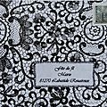Cathala florence dentelle art postal fête du fil 2015