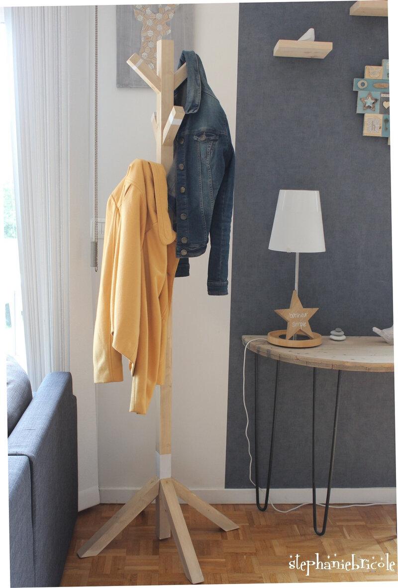 DIY – un porte manteau en tasseau