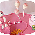 Modelages Hello Kitty et Barbapapa