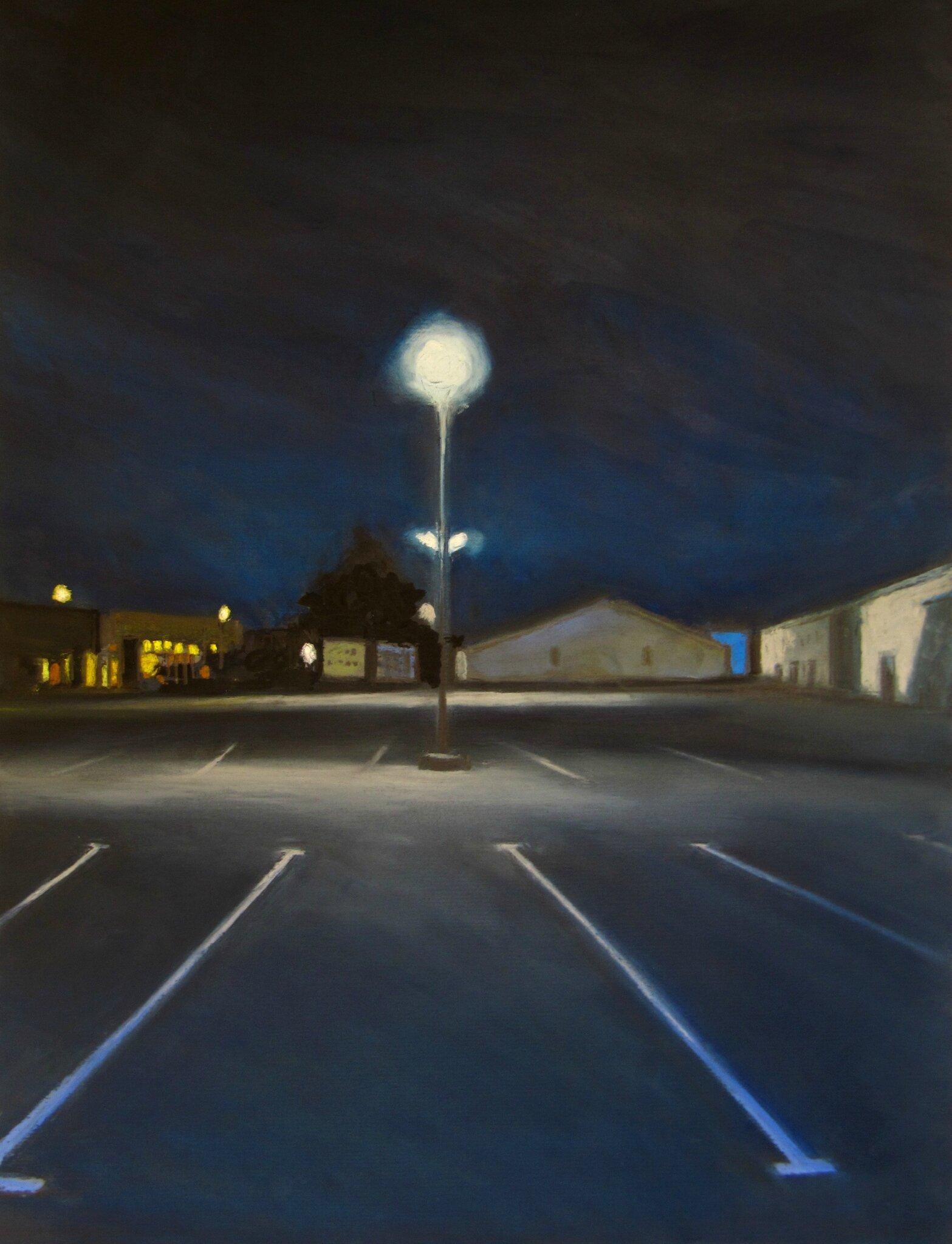 K'nowhere #17, pastel à l'huile sur papier, 38 x 48 cm