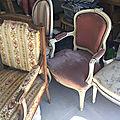 fauteuils anciens avant-après