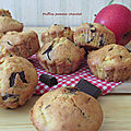 Muffins pomme-chocolat