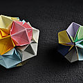 Boules origami à multiples faces