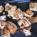 Plancha de saumon mariné au sel fumé