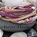 <b>Multimatières</b> et multicolore pour ce <b>bracelet</b> liberty et daim follement coloré et gai !
