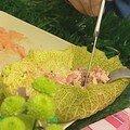 Saumon en feuille de choux
