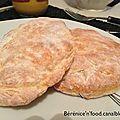 Pain pita allégé au fromage blanc 0%.