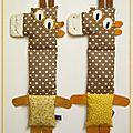 En attendant le loup, voici 2 girafettes venues de la savane...
