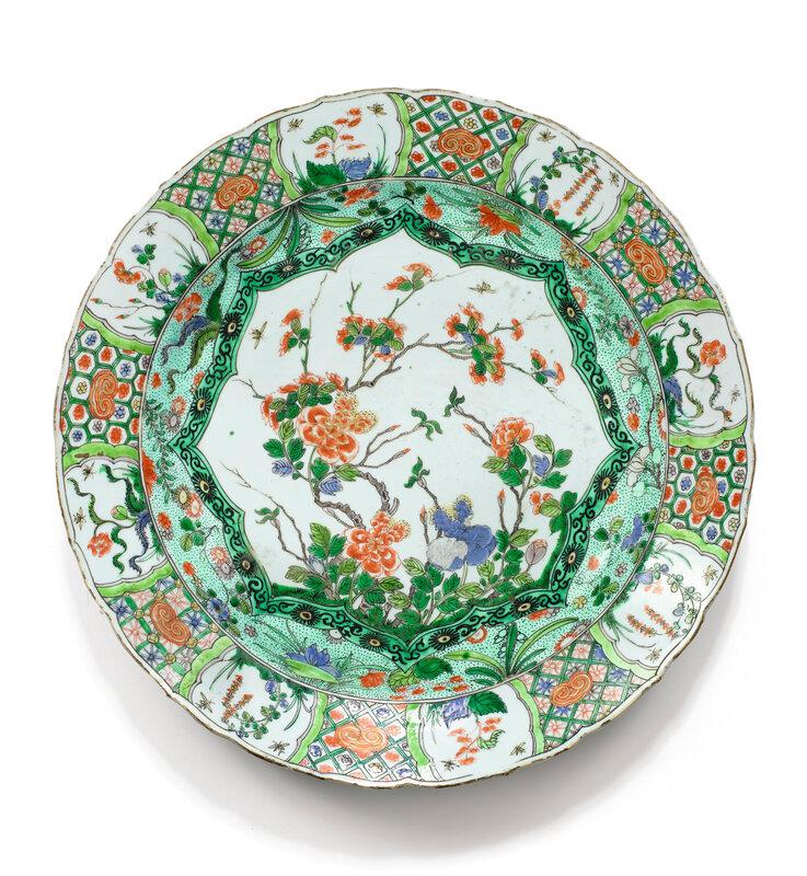Plat en porcelaine de la Famille Verte Dynastie Qing, époque Kangxi