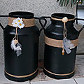 Recycler un <b>bidon</b> de lait en porte parapluies