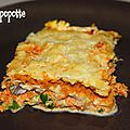 Lasagnes aux petits légumes & au hareng