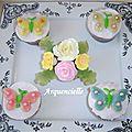 Cupcakes papillons et fleurs