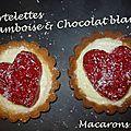 Tartelettes framboise & chocolat blanc