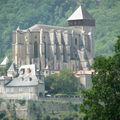 saint-bertrand-de-comminges, la cathédrale sainte marie, l'extérieur