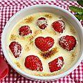 Sabayon aux fraises et à la menthe {recette}