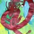 Charline dragon peint