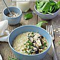 Porridge salé {avoine & champignons persillés} #vegan #sans gluten