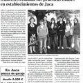 Un article de la presse aragonaise sur nos élèves à <b>Jaca</b>