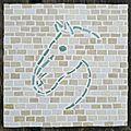 Mosaïque - sous-plat tête de cheval