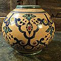 Ancien Vase Boule Boujemaa <b>Lamali</b> Céramique Maroc Safi / Moroccan Ceramic / MA06