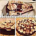 Tarte cheesecake à la rhubarbe