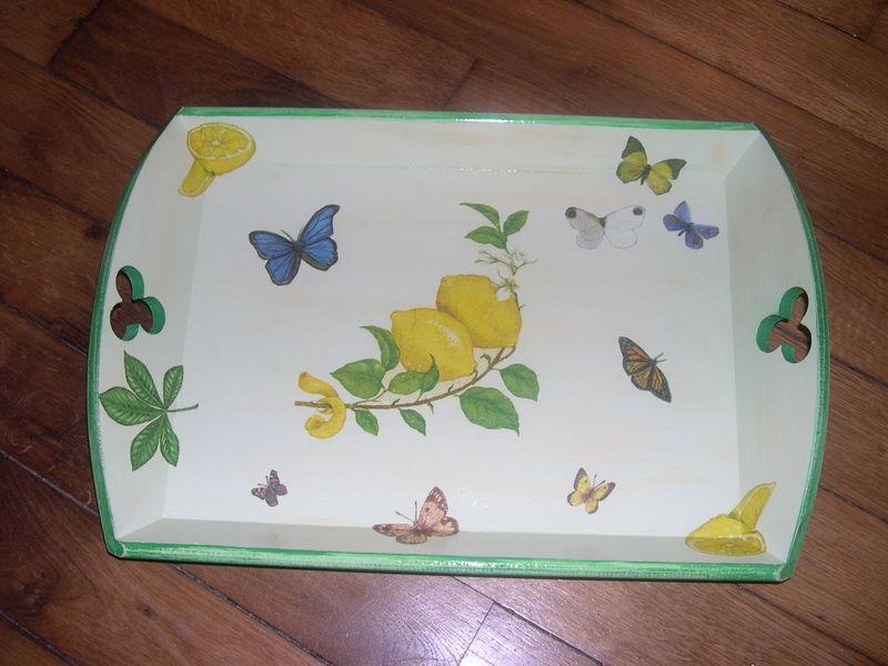 Plateaux papillons/citrons pour ma soeur