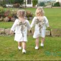 Cortège or et blanc - les petites filles